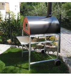 Pizzone: Supporto CON ruote in Alluminio Superleggero