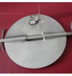 Valvola in acciaio inox per canna fumaria dei forni a legna