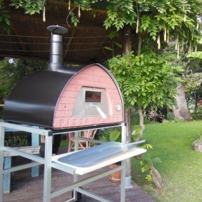 70x70 wood fired oven support with wheels superlight aluminium