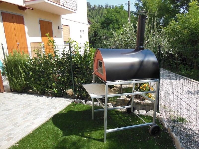 pizzone wood fired pizza oven mobile portable made in firenze